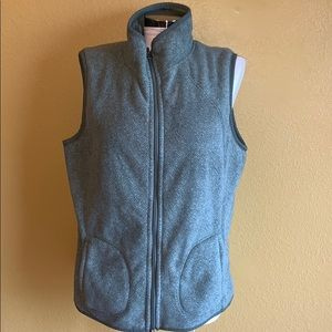 Laura Scott Jacket Vest Green Women Size XL